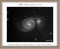 M51 con C11 HD in B/N