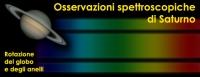 Osservazioni spettroscopiche di Saturno
